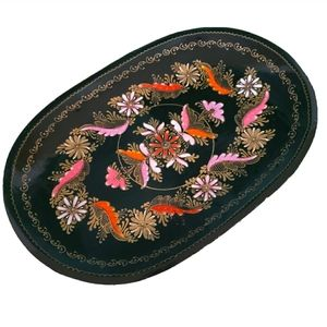 Eastern European Wooden Toleware Plate Tray